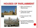 houses of parlamment