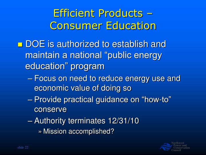 Efficient Products –