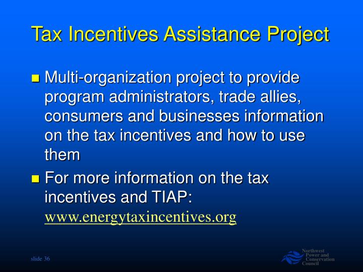 Tax Incentives Assistance Project