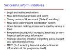 successful reform initiatives