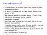 what achievements
