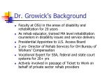 dr growick s background