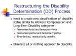 restructuring the disability determination dd process