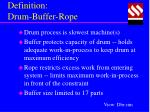 definition drum buffer rope