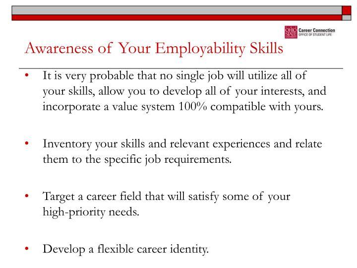 Awareness of Your Employability Skills