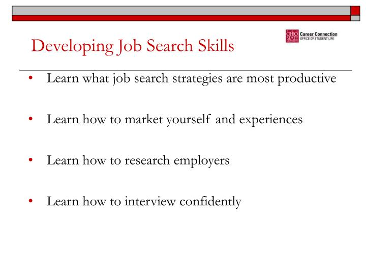 Developing Job Search Skills