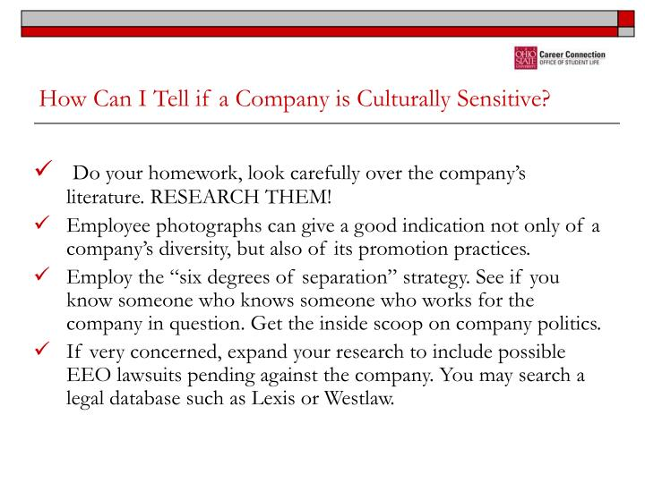 How Can I Tell if a Company is Culturally Sensitive?