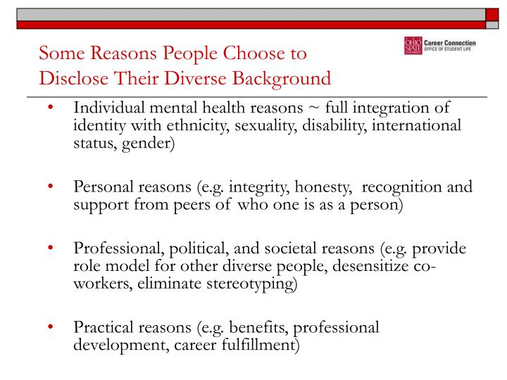 Some Reasons People Choose to