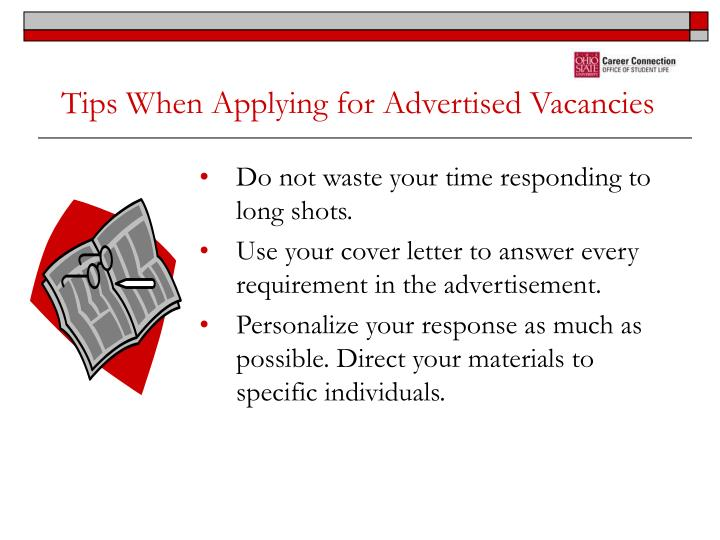 Tips When Applying for Advertised Vacancies