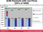 acre payments with low prices 85 of 2008