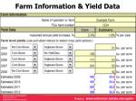 farm information yield data