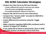 isu acre calculator strategies