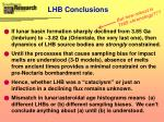 lhb conclusions