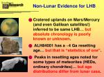 non lunar evidence for lhb