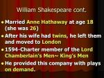 william shakespeare cont