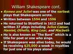 william shakespeare cont1