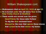 william shakespeare cont2