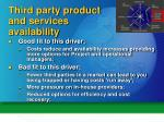 third party product and services availability1