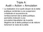 triple a audit action annulation