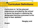 curriculum definitions