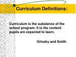 curriculum definitions1