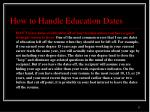 how to handle education dates