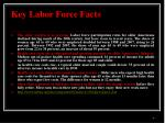 key labor force facts