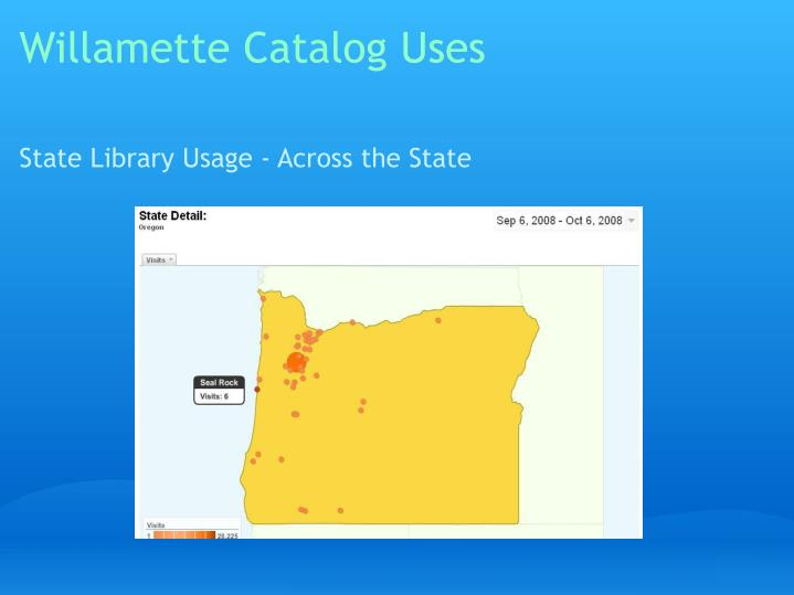 Willamette Catalog Uses