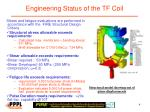 engineering status of the tf coil