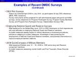 examples of recent dmdc surveys continued