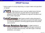 hrsap surveys