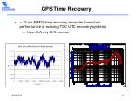 gps time recovery