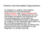 parteien sind intermedi re organisationen