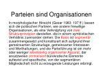 parteien sind organisationen