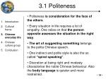3 1 politeness