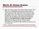 work at home scams