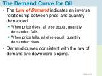 the demand curve for oil1