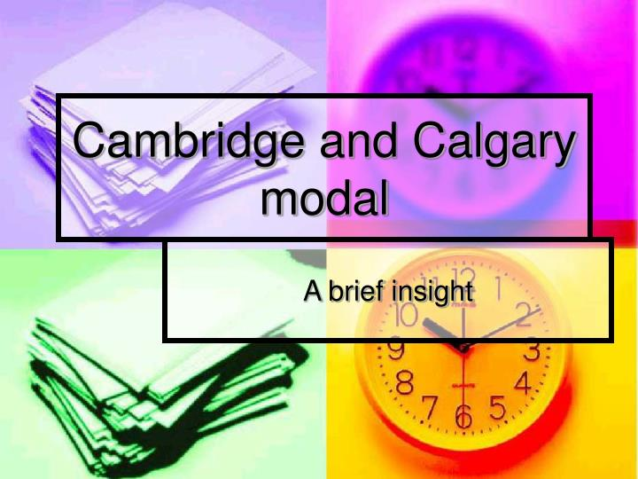 cambridge and calgary modal n.