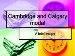 cambridge and calgary modal