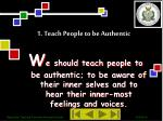 1 teach people to be authentic