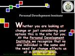personal development institute