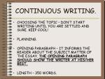 continuous writing1