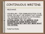 continuous writing4