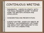 continuous writing5