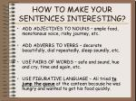 how to make your sentences interesting