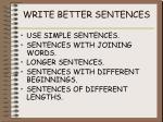 write better sentences