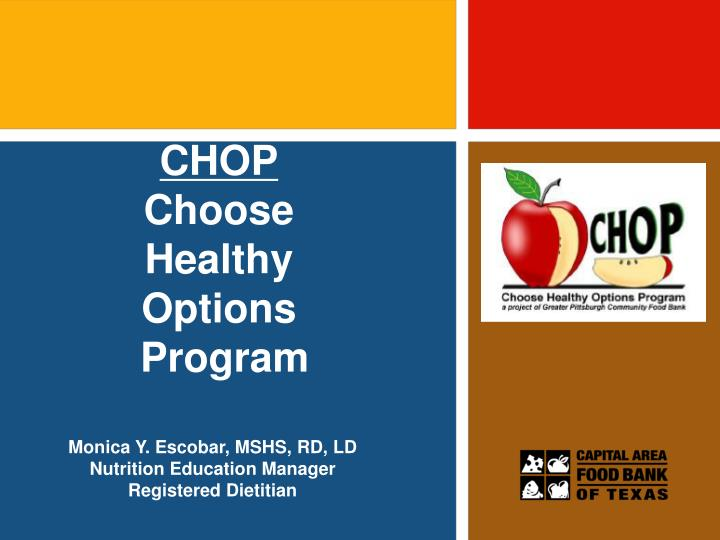 chop choose healthy options program n.