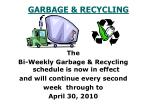 garbage recycling