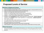 proposed levels of service