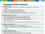 proposed levels of service1